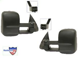 Chevy Silverado New Towing Mirror Pair 1999 2001 2002 Power Heated