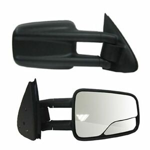1999 2000 2001 2002 2007 Chevrolet Silverado Passenger Side Manual Tow Mirror