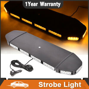31 Amber Warn Security Strobe Light Bar 72 Led Rooftop Magnet Emergency Lamp Us