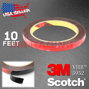 Genuine 3m Vhb 5952 Double Sided Mounting Foam Tape Automotive Car 10mm X 10ft
