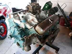 1966 Pontiac 421 9782611 Four Bolt Engine 16 Heads Complete 100 Miles 400 455