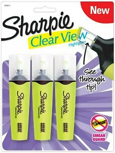 Sharpie Clear View Highlighter W smear Guard 6 Pack Of 3 Yellow Stl 1912826