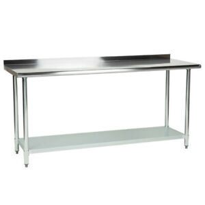 Cmi 24 X 72 Stainless Steel Commercial Work Table With 2 Rear Upturn