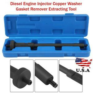 Diesel Engine Injector Copper Washer Gasket Remover Extracting Tool Black Us
