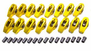 Crane Bbc Gold Race 1 7 Roller Rocker Arms 7 16in Stud P n 13750 16