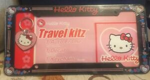 Hello Kitty Travel Kitz Auto Frame Decal And Keychain Sanrio New In Package