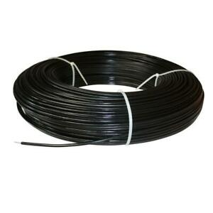Horse Fence Wire 1320 Black 12 5 Gauge Safety Coated High Tensile Non Electric