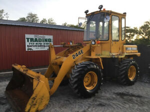 1991 John Deere 244e 4x4 Compact Wheel Loader W Cab Only 3300hrs