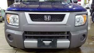 03 08 Honda Element Textured Front Bumper With Grille No Fog Lights Oem Used