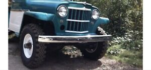 Willys Jeep Truck Wagon Jeepster Front Or Rear Bunper Chrome