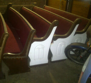 Antique Oak Church Pews Circa 1900 8 Wide See Separate Listing For 16 Wide