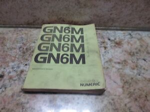 General Numeric Maintenance Manual Gn6m Gn 52025e Burke Cnc3md Mill J Type