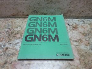 General Numeric Description Manual Model B 6m Gn6m Burke Cnc3md Mill