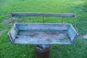 Vintage Rustic Antique Primitive Wooden Wood Horse Buggy Bench Wagon Seat Decor