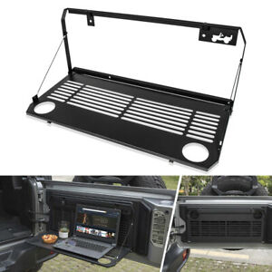 Foldable Tailgate Table Cargo Carrier Mount Rack For Jeep Wrangler Jl Accessory