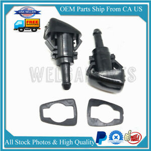 2x Windshield Washer Wiper Spray Fluid Nozzle For Chrysler Dodge Ram Charger New