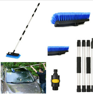 Car Wash Brush With 4 Section Dismountable Handle Includes On off Water Control