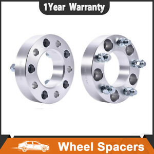 2 1 5inch 5 Lug 5x5 Wheel Spacers Adapter 14x1 5 Studs For 1988 99 Chevy C1500