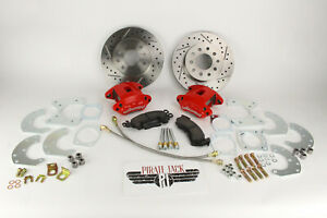 1964 73 Ford Mustang 9 Rear Disc Brake Conversion D S Rotors Red Wilwood