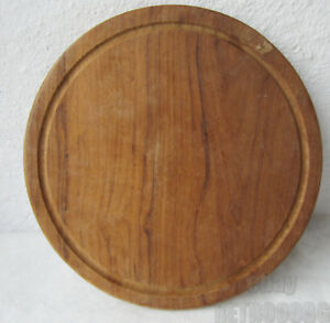 Antique Vintage Primitive Wooden Oval Round Cutting Board 5d