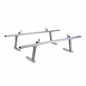 2 Bar Aluminum Adjustable Truck Ladder Rack Pick Up Lumber Kayak Utility 800 Lb