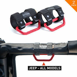 Gpca Gp Grip Lite Universal Handles For Jeep Truck Utv Roll Bar Boat Red Pair