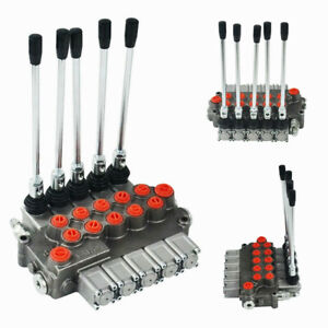 5 Spool Hydraulic Directional Control Valve 11 Gpm Motors Spool Double Acting