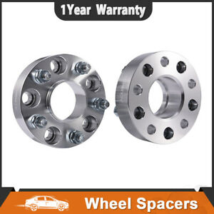 2x 1 5 5x4 75 Hubcentric Wheel Spacers Adapter 12x1 5 For Chevy S10 Blazer Gmc