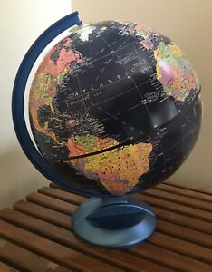Nice Vintage Replogle 12 Midnight Indigo Blue School House Globe 80s 90s Russia