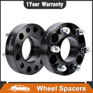 2x Black 1 5 6x135 Hubcentric Wheel Spacers For Lincoln Navigator Mark Lt Ford