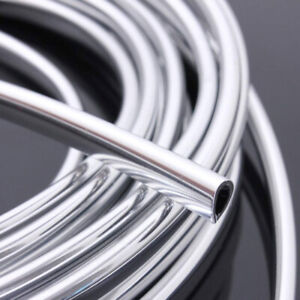 20ft Car Chrome Moulding Trim Strip Auto Door Edge Scratch Guard Protector Cover