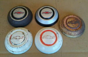 67 68 Chevy Half 1 2 Ton Pickup Truck Dog Dish Painted Hub Caps Poverty C10 10 5