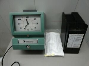 Acroprint Model 125 Time Clock Punch stamp W Time Card 24 Holder