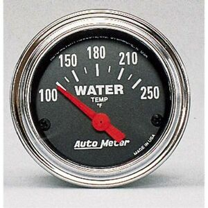 Auto Meter 2532 Traditional Chrome Electric Water Temperature Gauge