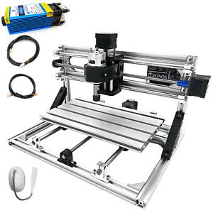 3 Axis Cnc Router Kit 3018 5500mw 2020 Aluminium Profiles For Wood T8 Screw