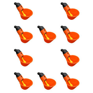 10 Pack Automatic Waterer Drinker Cups For Poultry Chicken Hen Quail