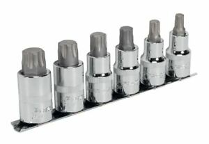 Sealey Ak6224 Trx P Socket Bit Set 6pc 1 2 Sq Drive 55mm