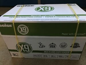 Boise X9 Copy Paper 20lbs 92 Bright 5000 Sheets 10 Ream Case 8 5 X 11