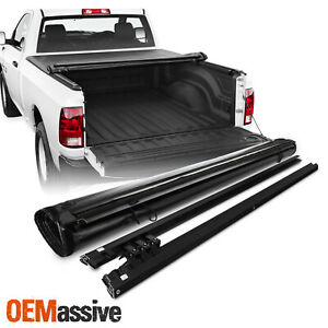 For 2009 2018 Dodge Ram 1500 2500 3500 67 Crew Cab Soft Roll Up Tonneau Cover