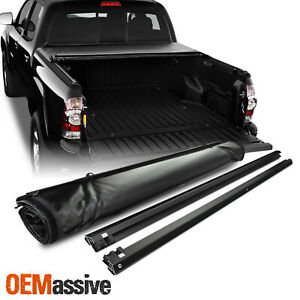 Tonneau Cover For 2005 2015 Toyota Tacoma Crew extended Cab 5ft 60 Soft Roll Up