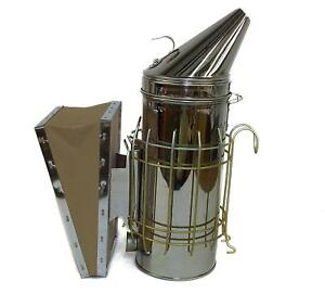 Beehive Smoker Stainless Steel Heat Shield Fire Base Bees Stings Gloves Pellets