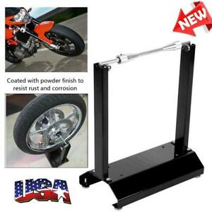 Motorcycle Black Wheel Balancer Balancing Stand Maintenance Rack Aluminum