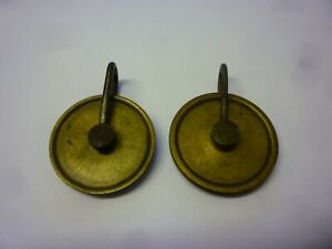 Pair Of 18th Century 8 Day Grandfather Clock Weight Pulleys 7z