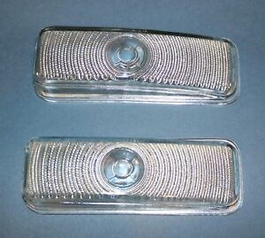 Nos Parking Lamp Light Lens Pontiac Chieftain Silver Streak Catalina 50