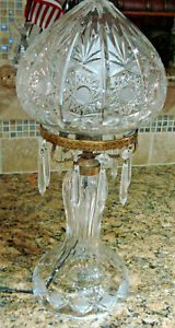 Vintage Cut Crystal Strawberry Lamp