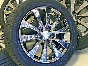 17 Buick Chevy Impala Malibu Pvd Chrome Wheels Rims Tires Factory Oem 4 4113