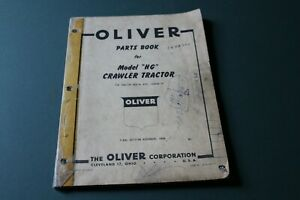 Oliver Crawler Tractor Model hg Parts List Catalog Manual Form No S6 9 100 g