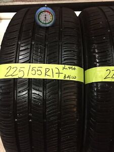 2 Used Tires 225 55 17 Continental Contiprocontact Run Flats With 70 Tread Bmw