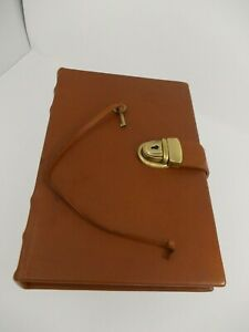Levenger Leather Caramel Brown Journal Folio Letter Planner Note Pad Book Diary