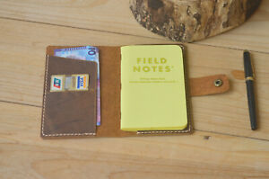 Leather Field Notes Cover handmade Travelling 3 5x5 5 Planner Book Folio Case